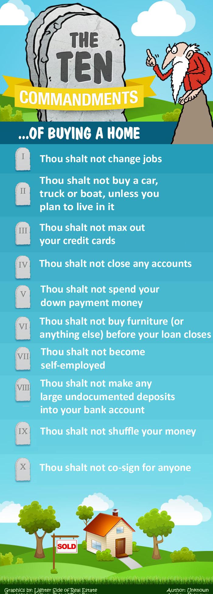 10 Mortage Commandments